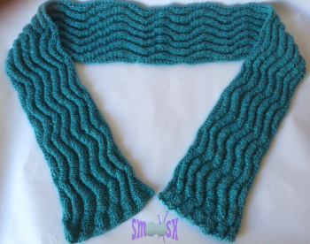 gallery/wibbly rib scarf - spearmint 3